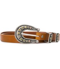 alanui stoned-hardware belt - brown