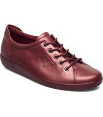 soft 2.0 låga sneakers röd ecco