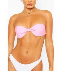 mix & match underwired push up bikini top, pink