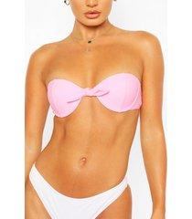 mix & match underwired push up bikini top, pink