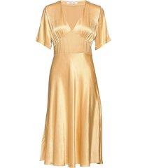 cindy dress 10447 knälång klänning gul samsøe & samsøe
