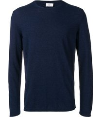 closed slim-fit pullover - blue