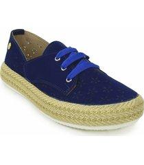 zapato casual yute dama 692202azul