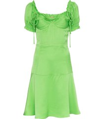 cult gaia scarlett bustier faille dress - green