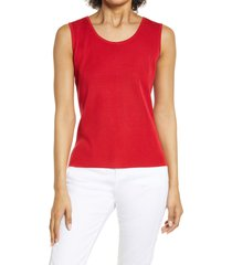 women's ming wang scoop neck tank, size x-small - red