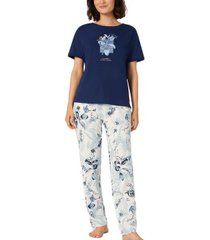 triumph lounge me cotton pyjama ss set