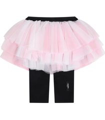 balmain pink skirt for babygirl with logo