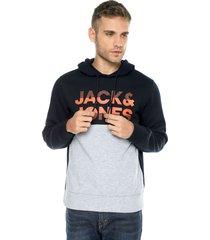 buzo azul-gris jack & jones