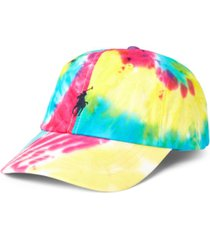 polo ralph lauren men's tie-dye chino ball cap