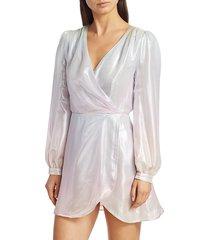 olivia rubin women's meg silk dress - pastel ombre - size 2