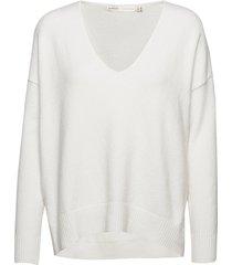 mandieiw v-neck pullover gebreide trui wit inwear
