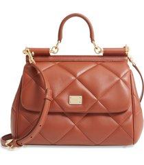 dolce & gabbana medium sicily matelasse leather satchel -