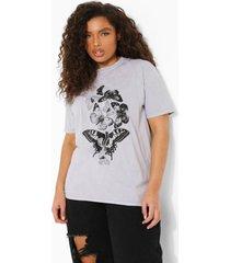 plus overdye vlinder t-shirt, stone