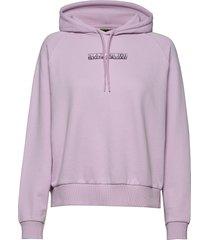 bi h hoodie trui roze napapijri