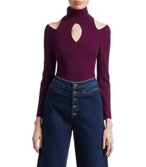 matera cutout turtleneck sweater