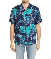 men's reyn spooner kainapa tropical short sleeve button-up camp shirt