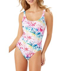 women's tommy bahama rainbow fronds reversible one-piece swimsuit
