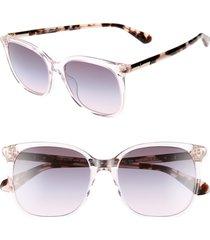 women's kate spade new york caylin 54mm gradient square sunglasses - pink/ tortoise
