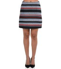 falda de rayas de mujer exotik ew172-1115-777 negro