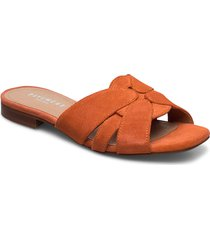 gin shoes summer shoes flat sandals orange pavement