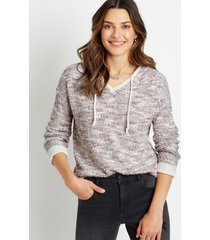 maurices womens spacedye hooded pullover sweater
