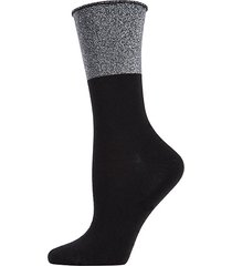 totally awesome metallic crew socks
