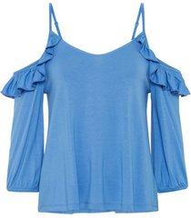 maglia con cut-out (blu) - rainbow
