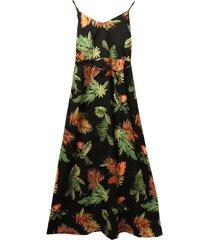 vestido hojas palmeras negro new jacinta tienda