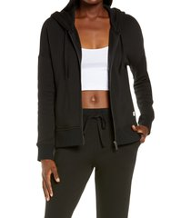 women's ugg gertie full zip hoodie, size x-large - black