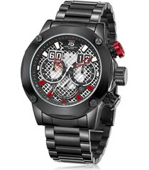 reloj de hombre t5 pulso acero h3657g-e - negro/rojo
