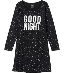 camicia da notte in cotone biologico (nero) - bpc bonprix collection