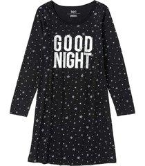 camicia da notte in cotone biologico (nero) - bpc bonprix collection