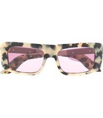 marni eyewear leopard sunglasses - neutrals