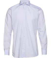 checks poplin shirt skjorta business blå eton