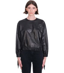 iro gentry leather jacket in black leather