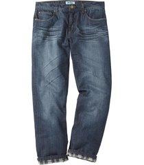 jeans termici regular fit straight (nero) - john baner jeanswear