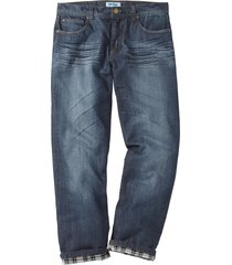 jeans termici regular fit straight (nero) - john baner jeanswear