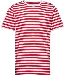 verkstad t-shirt t-shirts short-sleeved röd makia