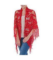100% alpaca shawl, 'bold flirt' (peru)