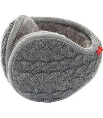 uomo donna paraorecchie invernali caldo scaldacollo lavorato a maglia pieghevole regolabile posteriore indossare earflap