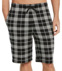 perry ellis portfolio men's plaid pajama shorts