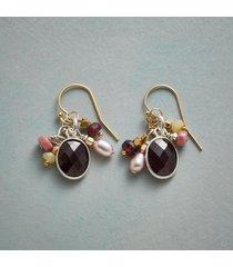 adorned garnets earrings