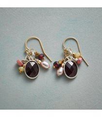 adorned garnet earrings