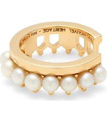 simple pearl lace ear cuff