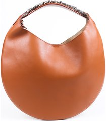 givenchy infinity small brown leather hobo bag brown sz: m