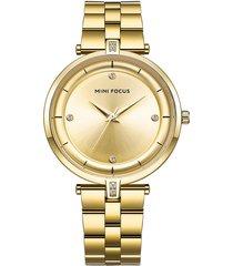 reloj análogo f0120l-4 mujer dorado