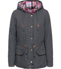 giacca imbottita con fodera a quadri (grigio) - john baner jeanswear