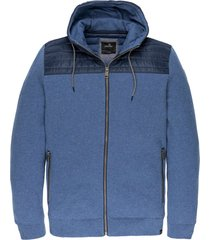 hooded jacket bikesweat blue indigo