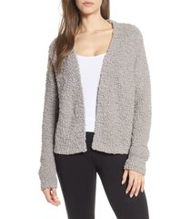 barefoot dreams(r) open front boucle cardigan, size large in beach rock at nordstrom