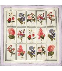 floral study silk scarf